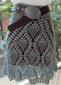 falda a crochet