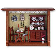 Coffee Shop Shadow Box
