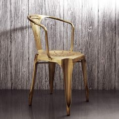 http://www.grahamandgreen.co.uk/isaac-iron-chair-in-brass - also in copper and with arms! Love.