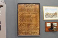 Swindon Steam Museum: List of tolls