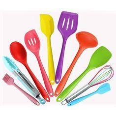10pcs/set Silicone Kitchen Utensils