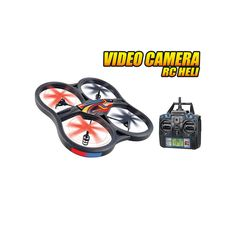 World Tech Toys Panther UFO Spy Drone 4.5ch RC Quadcopter with Video Camera, Multicolor