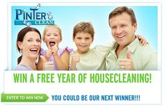 Win A Free Year Of House Cleaning! Contact Us Today! (901) 484 - 8460