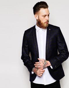 Image 1 ofNoose & Monkey Check Blazer In Skinny Fit
