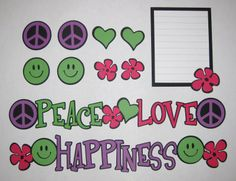 Peace Love Happiness Premade Scrapbook Layout Kit