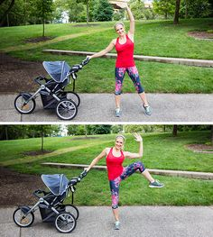 Oblique Crunch with Stroller