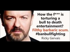 Image result for ricky gervais very angry about animals