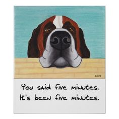 Saint Bernard dog art - for all of us who love the Saints or other big dogs, you know this face!