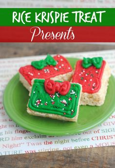 Rice Krispie Treat Presents That would be perfect for any cookie exchange. - The Frugal Navy Wife