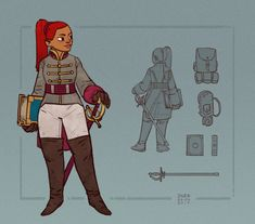 Nevhna the bard It's not the first model sheet I make for this character, but…