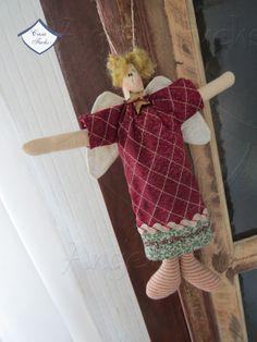 Pingente para árvore - boneco patchwork