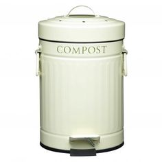 Kitchen Craft Compost Pedal Bin, 3 Litre - Every little step counts, so if you want to start composting at home, this little bin is the first step. Fill with fruit and veggie offcuts, egg shells, tea bags, coffee grounds (anything organic except meat and bones), and let it sit until full. Carbon filters inside the lid keep smells inside, and the pedal means you can open it and keep hands clean. When it's full, take it outside to compost fully. See? It's as easy as apple pie.