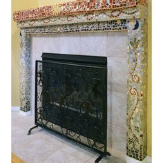 Mosaic Fireplace Surround Design, Pictures, Remodel, Decor and Ideas