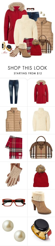 """""""Winter Layers"""" by mcmoemoe ❤ liked on Polyvore featuring JunaRose, Woolrich, Ralph Lauren Blue Label, IRO, Burberry, Ralph Lauren, ZeroUV, Anne Klein, Carolee and Fitbit"""