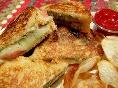 Mozzarella Grilled Cheese with Basil Pesto Sauce