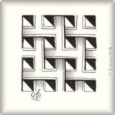 Zentangle-Pattern 'Kuba' by Ina Sonnenmoser, presented by www.musterquelle.de