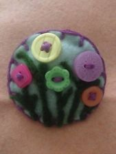 Needle felted brooch, handmade unique gift -Spring Flowers