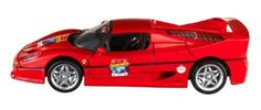 1:18 Hot Wheels 60th Anniversary Ferrari F50 (red) by Mattel. $34.99. Replica of 1:18 scale Ferrari f50. Highly detailed model. Contains rubber tires, steerable wheels, perfectly modeled engine, accurate gauges and dash inside. Features opening doors, opening hood, opening trunk and detailed interior. Contains presentation case to display the vehicle. From the Manufacturer                Hot Wheels celebrates Ferrari's 60th Anniversary with this 1:18 scale Ferrari F50. First pr...