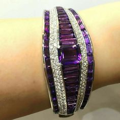 Diamond and Amethyst bracelet Jewelry and expen$ive bling