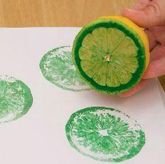 DIY Lemon Painting On Tea Towel