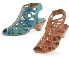 Loop-de-Loop PB6-116 Leather Swirl Sandals
