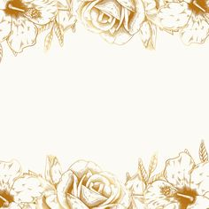 Hand drawn rose framed background vector | free image by rawpixel.com / Aum