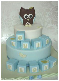 Owl & Blocks by The Designer Cake Company