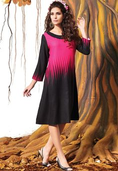 #Pink And #Black #Premium #Crepe #Kurti   #Pink And #Black #Premium #Crepe #Printed Work Kurti.Product colour & Patch Patta.  INR: 1,626.00  With Exclusive Discounts  Grab: http://tinyurl.com/heoehyu