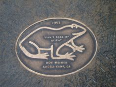 Check out the big winner of the Calaveras County Frog Jumping Contest of 1953 – his name is CAN'T TAKE IT!
