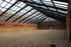 Indoor riding arena with glass roof