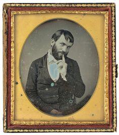 Portrait of a Man c. 1850     daguerreotype     image: 7.5 × 5.8 cm (2 15/16 × 2 5/16 in.)     Pepita Milmore Memorial Fund     2014.25.1