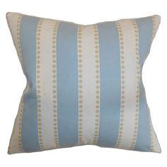 The Pillow Collection Odienne Stripes Pillow - Putty - P18-PP-LULUMIST-PUTTY-C100