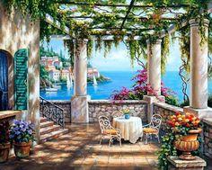 Beautiful spot on the terrace.