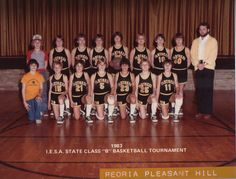 #10 Jim Thome with his 1983 IESA State Basketball final team went on to find success in Major League Baseball.