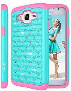 Galaxy Grand Prime Case, Style4U Studded Rhinestone Crystal Bling Hybrid Armor Case Cover for Samsung Galaxy Grand Prime G530 with 1 Style4U Stylus [Teal / Hot Pink] Style4U http://www.amazon.com/dp/B019YXQIEU/ref=cm_sw_r_pi_dp_gQQNwb0BG6PP4