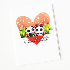 Stamps: Christmas Panda Plushies, Sentimental Christmas / Stencils: Snow Day Christmas Panda, Christmas Stencils, Copic Sketch Markers, White Gel Pen, Ink Stamps, Babies First Christmas, Ink Pads, Gel Pens, Clear Stamps