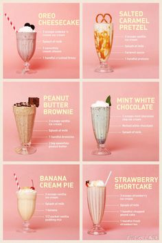 milkshakesss – Famous Last Words Yummy Smoothie Recipes, Yummy Smoothies, Smoothie Drinks, Shake Recipes, Yummy Drinks, Yummy Food, Oreo Smoothie, Strawberry Smoothie, Healthy Drinks