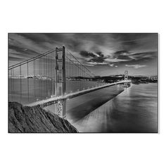 Direct Golden Gate Bridge In Black And White Print On Mounted Wall Art