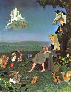 New disney vintage art princess aurora 18 Ideas Disney Kunst, Arte Disney, Disney Magic, Aurora Disney, Retro Disney, Vintage Disney, Disney Love, Vintage Art, Vintage Style