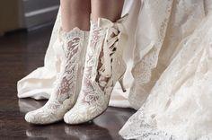 We LOVE the Lottie Elliot lace boots ❤️ Photography- @careysheffield | Model - @charlottegodfrey | Gown -@emmahuntlondon