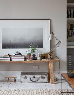 Big art print & low table