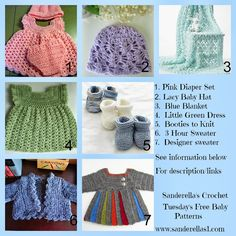 Tuesday Free Baby Patterns and Link to a RaffleCopter giveaway - Sanderellas Crochet Blog