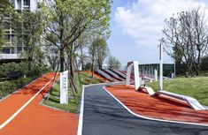 保利天寰花园 / 澳大利亚IAPA设计顾问有限公司 Landscape Elements, Landscape Architecture, Landscape Design, Entrance Gates, Main Entrance, Cool Playgrounds, Sport Park, Playground Design, Parking Design