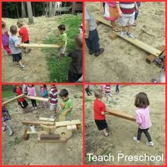 Building Outdoors with Scrap Wood by Teach Preschool - different ways to use scrap wood in preschool - love it for outdoor building play