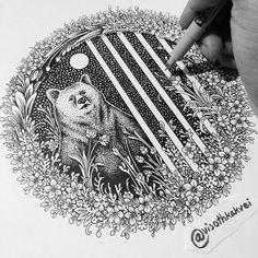 THROWBACK • The Bear of the Midnite Story #original #art #visothkakvei