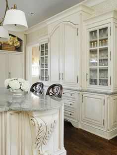 Kitchens with Furniture-Style Cabinets Customize your kitchen cabinets with furniture-style details.