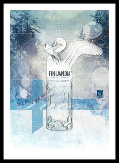 No.2: Finlandia Vodka, Finland.  Part of a series of illustrations for Revolution Vodka Bars demonstrating the provenance of their range of Premium Vodka's.