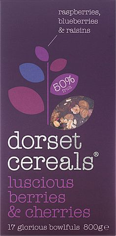luscious berries & cherries – Dorset Cereals - honest, tasty & real unadulterated breakfast pleasure, muesli, porridge and cereal