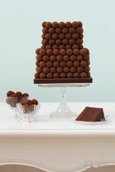 Dark Chocolate Praline cake,Cake design by Peggy Porschen