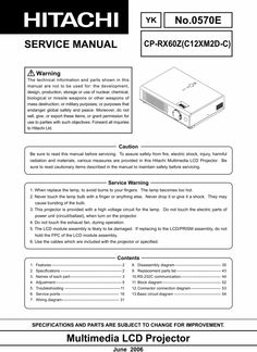 Hitachi CP-RX 60-Z Projector Original Service Repair Manual in PDF  PDF format suitable for Windows DOWNLOAD Global Safety, Procedural Writing, Electrical Wiring Diagram, Weapon Of Mass Destruction, Projectors, Repair Manuals, Pdf, The Originals, Windows Xp
